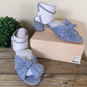 Loeffler Randall Dahlia Blue Bow Low Heel